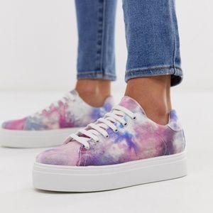 ASOS Design tie dye chunky sneakers
